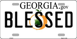 Blessed Georgia Novelty Wholesale Metal License Plate