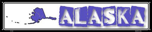 Alaska State Outline Wholesale Novelty Metal Street Sign ST-301