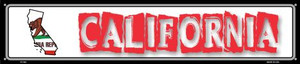 California State Outline Wholesale Novelty Metal Street Sign ST-304