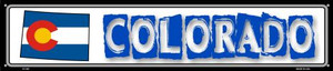 Colorado State Outline Wholesale Novelty Metal Street Sign ST-305