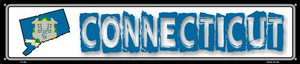 Connecticut State Outline Wholesale Novelty Metal Street Sign ST-306