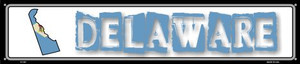 Delaware State Outline Wholesale Novelty Metal Street Sign ST-307