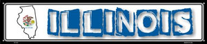 Illinois State Outline Wholesale Novelty Metal Street Sign ST-312