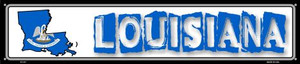 Louisiana State Outline Wholesale Novelty Metal Street Sign ST-317