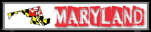 Maryland State Outline Wholesale Novelty Metal Street Sign ST-319