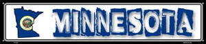 Minnesota State Outline Wholesale Novelty Metal Street Sign ST-322