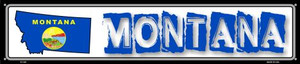 Montana State Outline Wholesale Novelty Metal Street Sign ST-325