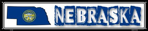 Nebraska State Outline Wholesale Novelty Metal Street Sign ST-326