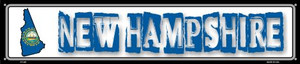 New Hampshire State Outline Wholesale Novelty Metal Street Sign ST-328