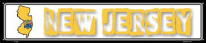 New Jersey State Outline Wholesale Novelty Metal Street Sign ST-329