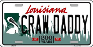 Craw Daddy Louisiana Novelty Wholesale Metal License Plate