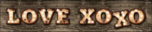 Love XOXO Wholesale Novelty Metal Street Sign ST-832