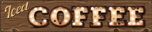 Iced Coffee Wholesale Novelty Metal Street Sign ST-833