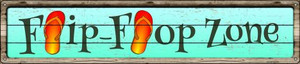 Orange Flip Flop Zone Wholesale Novelty Metal Street Sign ST-843