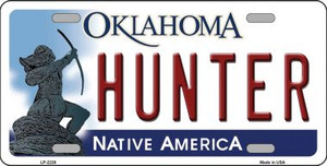 Hunter Oklahoma Novelty Wholesale Metal License Plate LP-6226