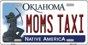 Moms Taxi Oklahoma Novelty Wholesale Metal License Plate LP-6232
