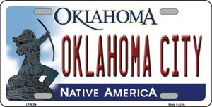 Oklahoma City Oklahoma Novelty Wholesale Metal License Plate LP-6254