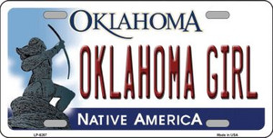 Oklahoma Girl Novelty Wholesale Metal License Plate LP-6267