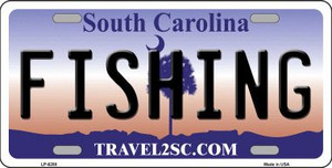 Fishing South Carolina Novelty Wholesale Metal License Plate LP-6288