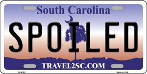 Spoiled South Carolina Novelty Wholesale Metal License Plate LP-6293