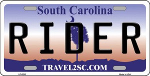 Rider South Carolina Novelty Wholesale Metal License Plate LP-6295