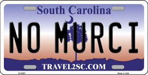 No Murci South Carolina Novelty Wholesale Metal License Plate LP-6297
