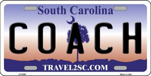 Coach South Carolina Novelty Wholesale Metal License Plate LP-6298