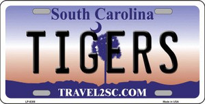 Tigers South Carolina Novelty Wholesale Metal License Plate LP-6306