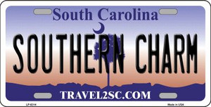 Southern Charm South Carolina Novelty Wholesale Metal License Plate LP-6314
