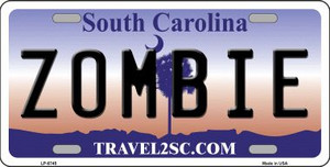 Zombie South Carolina Novelty Wholesale Metal License Plate LP-6745