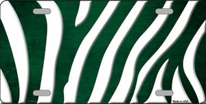 Green White Zebra Oil Rubbed Wholesale Metal Novelty License Plate