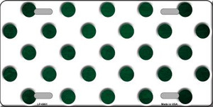 Green White Dots Oil Rubbed Wholesale Metal Novelty License Plate