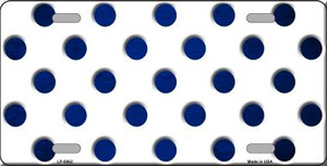 Blue White Dots Oil Rubbed Wholesale Metal Novelty License Plate
