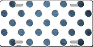 Light Blue White Dots Oil Rubbed Wholesale Metal Novelty License Plate