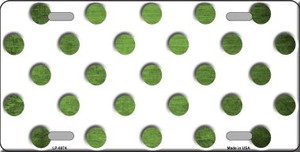 Lime Green White Dots Oil Rubbed Wholesale Metal Novelty License Plate