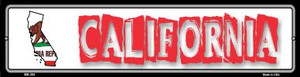 California State Outline Wholesale Novelty Mini Metal Street Sign MK-304