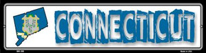 Connecticut State Outline Wholesale Novelty Mini Metal Street Sign MK-306