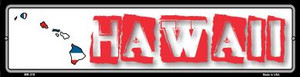 Hawaii State Outline Wholesale Novelty Mini Metal Street Sign MK-310