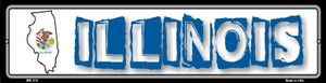 Illinois State Outline Wholesale Novelty Mini Metal Street Sign MK-312