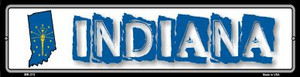 Indiana State Outline Wholesale Novelty Mini Metal Street Sign MK-313
