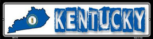 Kentucky State Outline Wholesale Novelty Mini Metal Street Sign MK-316
