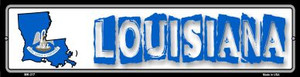 Louisiana State Outline Wholesale Novelty Mini Metal Street Sign MK-317