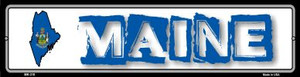 Maine State Outline Wholesale Novelty Mini Metal Street Sign MK-318