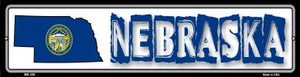 Nebraska State Outline Wholesale Novelty Mini Metal Street Sign MK-326