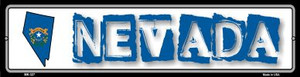 Nevada State Outline Wholesale Novelty Mini Metal Street Sign MK-327