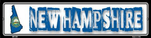 New Hampshire State Outline Wholesale Novelty Mini Metal Street Sign MK-328