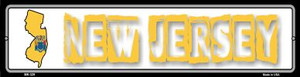 New Jersey State Outline Wholesale Novelty Mini Metal Street Sign MK-329