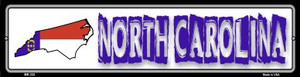 North Carolina State Outline Wholesale Novelty Mini Metal Street Sign MK-332