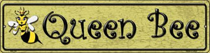 Queen Bee Gold Wholesale Novelty Mini Metal Street Sign MK-354
