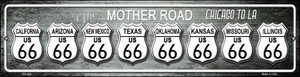 Route 66 Chicago To LA Wholesale Novelty Mini Metal Street Sign MK-400